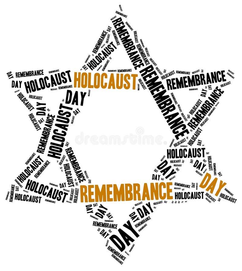Holokausta wspominania dzień royalty ilustracja