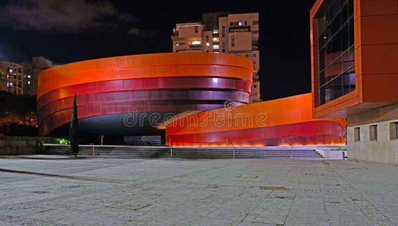 Holon ИЗРАИЛЬ 18 02 2019: Музей Holon дизайна музей в Израиле Здание музея было запланировано и было конструировано израильским стоковые изображения