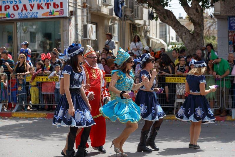 Holon Adloyada. Carnaval de Purim. Israël photo libre de droits