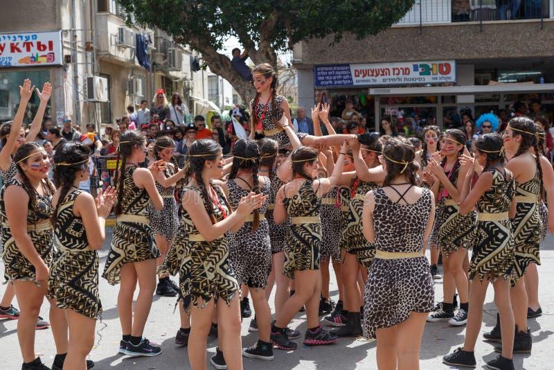 Holon Adloyada. Purim καρναβάλι. Ισραήλ στοκ εικόνες
