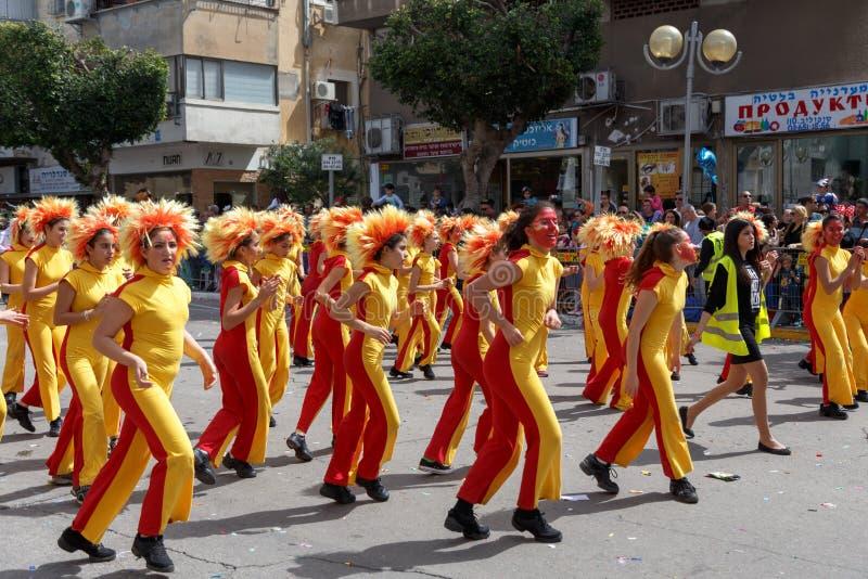Holon Adloyada. Purim-Karneval. Israel stockfoto