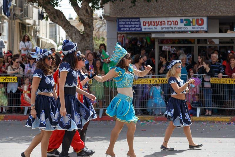 Holon Adloyada. Purim karneval. Israel arkivbilder