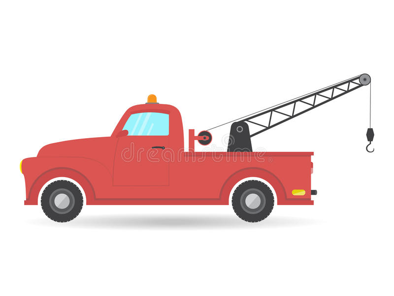 Holowniczej ciężarówki Samochodu dostawczego Samochód pojazdu wektorowej ikony furgonetki ilustracyjny samochód royalty ilustracja