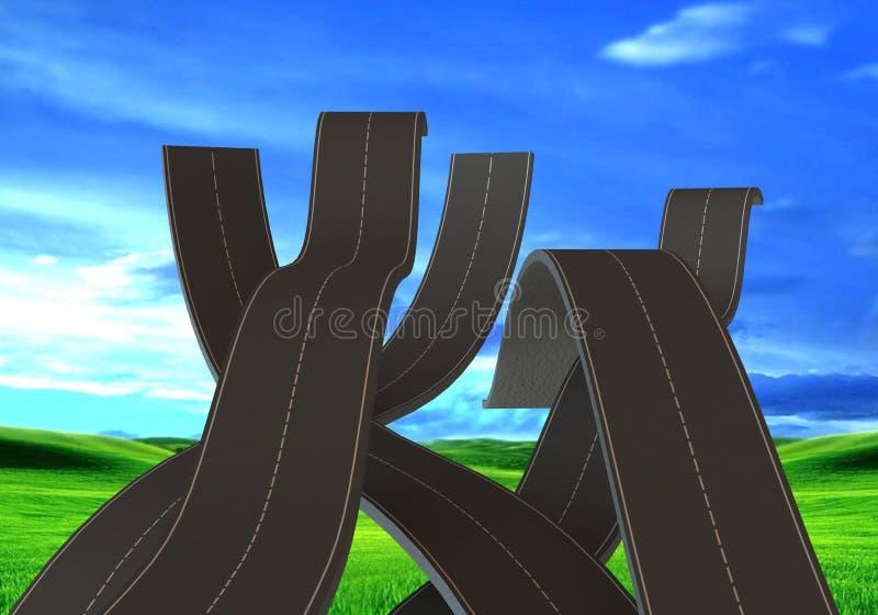 Holperige Straßen vektor abbildung