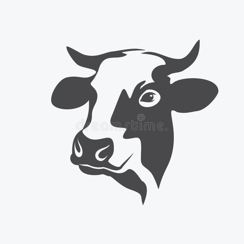 Holstein krowy portret royalty ilustracja