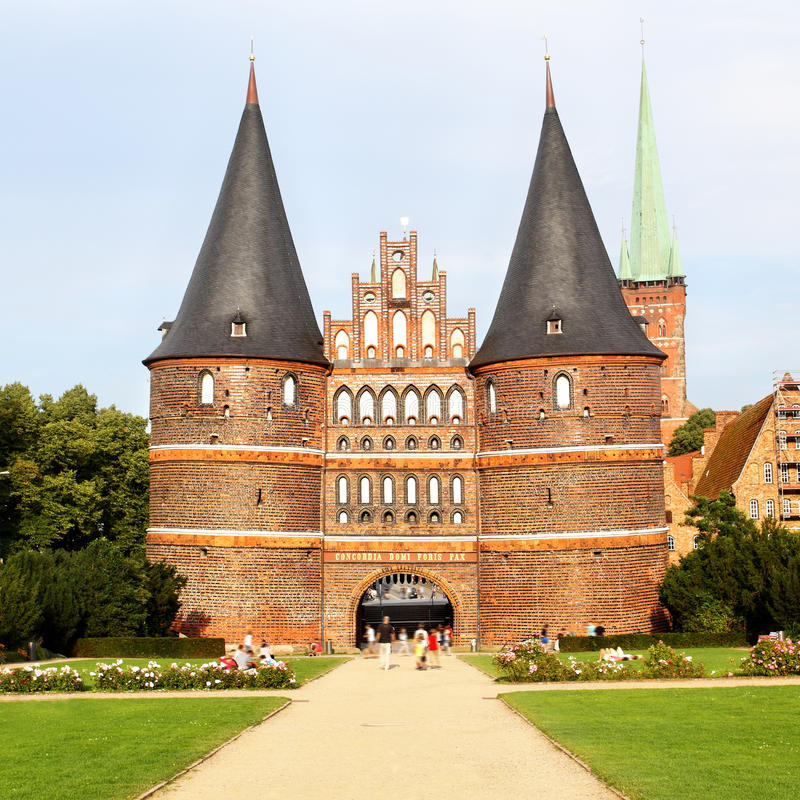Download Holsten Gate stock photo. Image of famous, exterior, hanseatic - 26436224