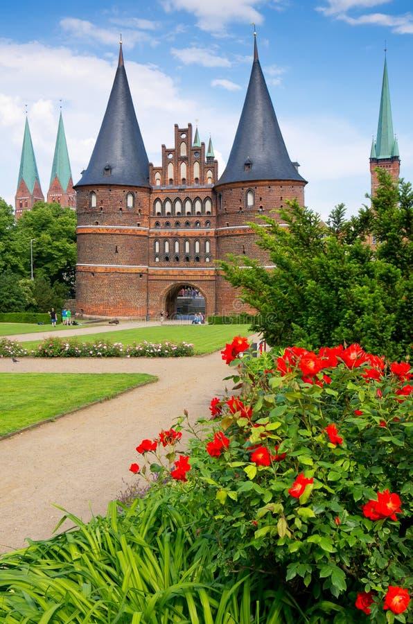Holstentor. Lübeck, Deutschland stockbilder