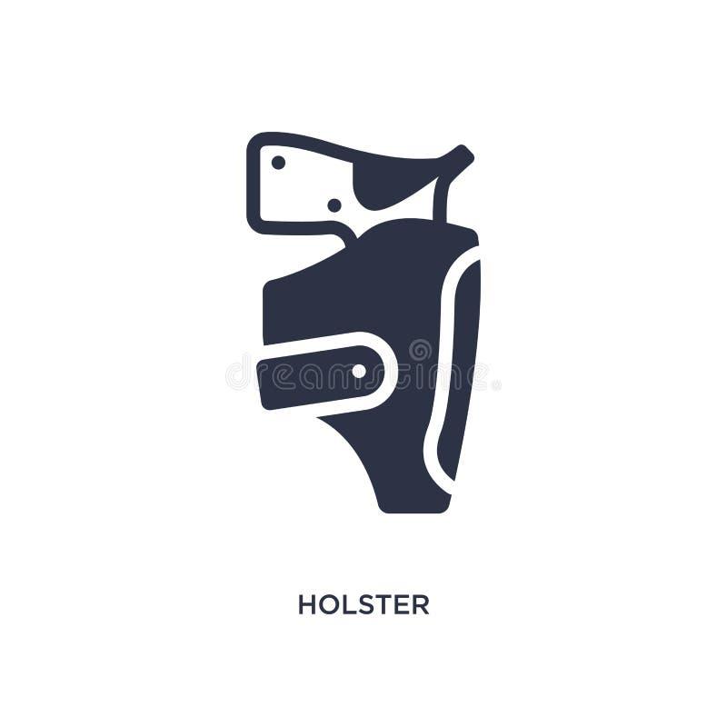 holster ikona na białym tle Prosta element ilustracja od pustynnego pojęcia ilustracji