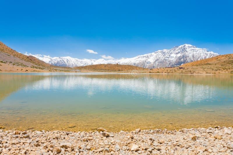Download Holy Alpine Buddhist Pilgrimage Lake Dhankar Stock Photo - Image: 27100266