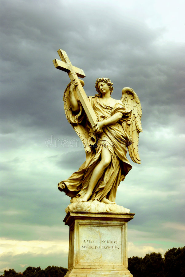 Download Holy Angel With A Cross, Rome Royalty Free Stock Photo - Image: 3754885