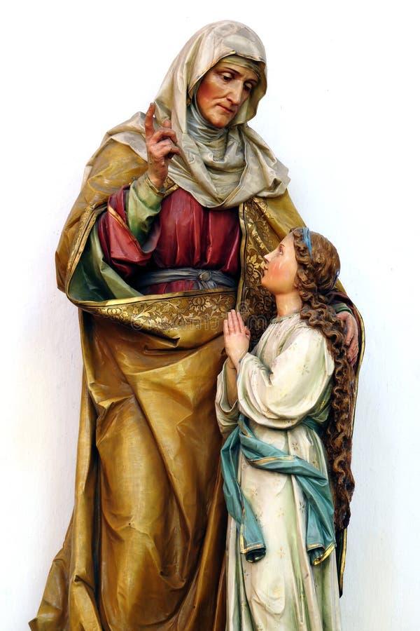 Holy Ann - mother of virgin Mary. Statue from Banska Stiavnica - st. Katharine church stock image