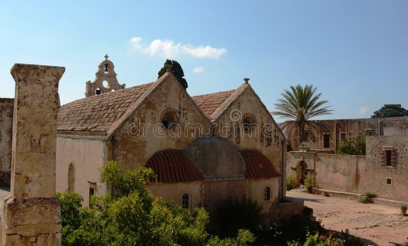 Beautiful Monastery Arkadi, Crete Moni Arkadiou royalty free stock photography