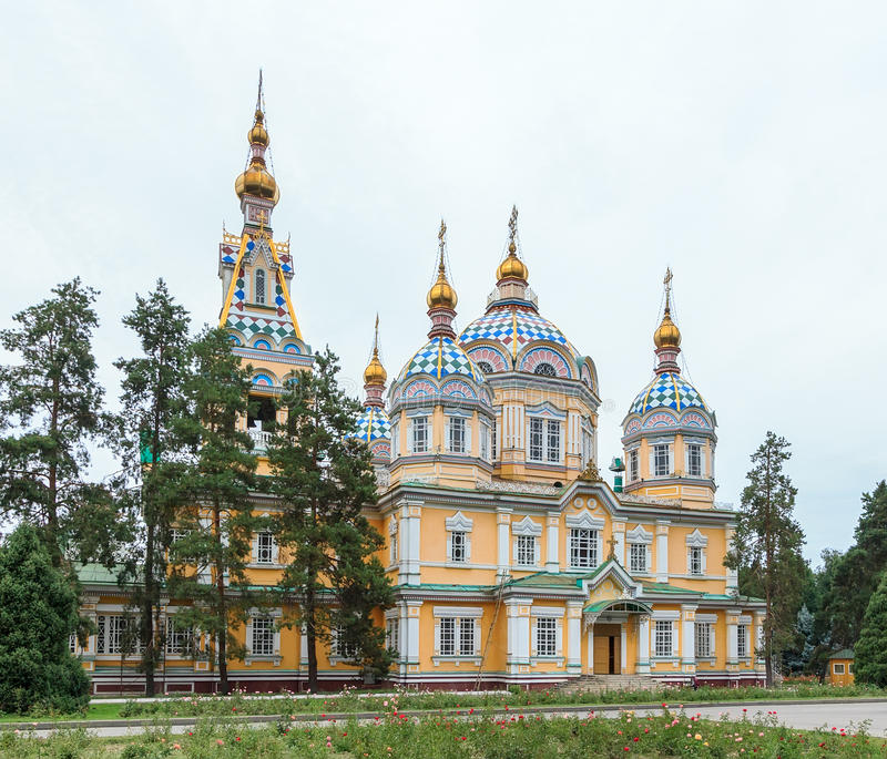 Holy Ascension Cathedral. Almaty, Kazakhstan royalty free stock photos