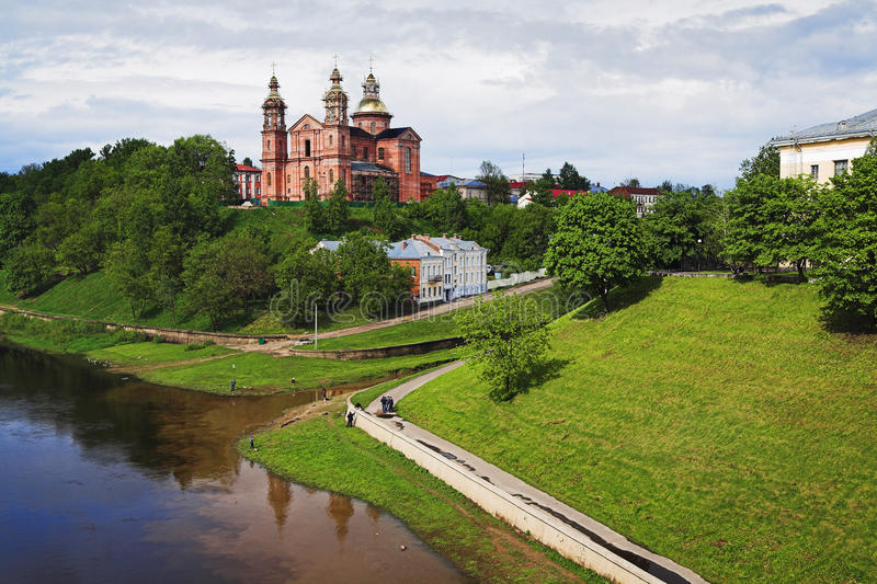 Holy Assumption Cathedral in Vitebsk royalty free stock image