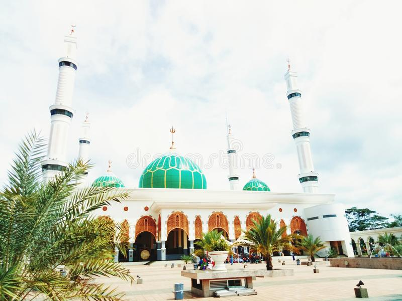 Holy Beautiful Mosque royalty free stock photos