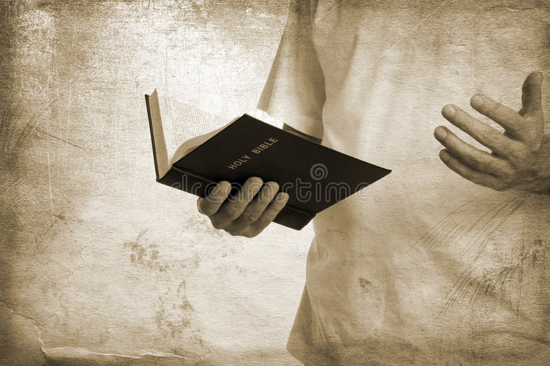 Download Holy bible stock photo. Image of hand, read, burnt, grunge - 5927470