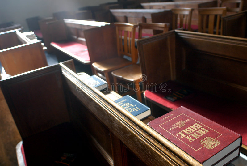 Holy bible. In church royalty free stock photos