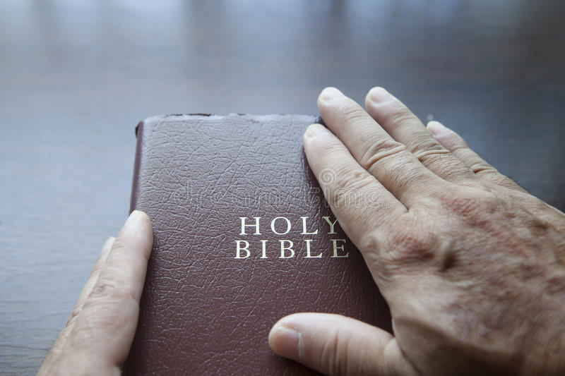 The Holy Bible stock photo