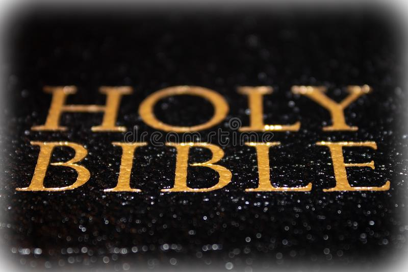 The Holy Bible. Close up of the Holy Bible royalty free stock photography