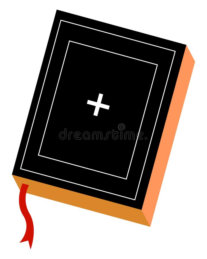 Holy bible, illustration, vector royalty free illustration