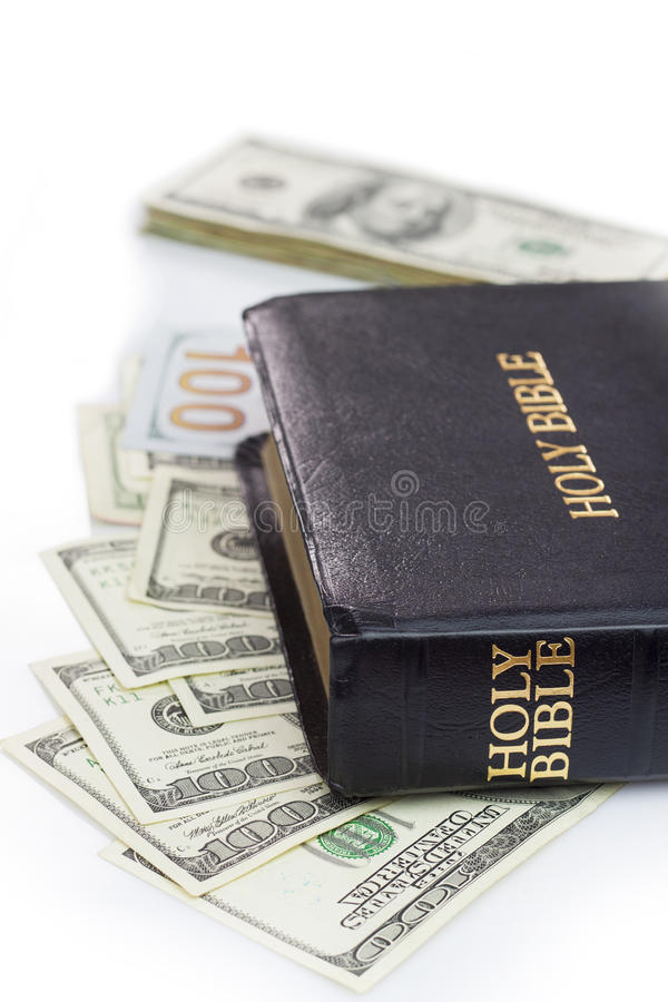 Vintage Leather Look Jeremiah Verse Bible Book Cover Large: Holy Bible And Money Stock Photo. Image Of Bible, Believe