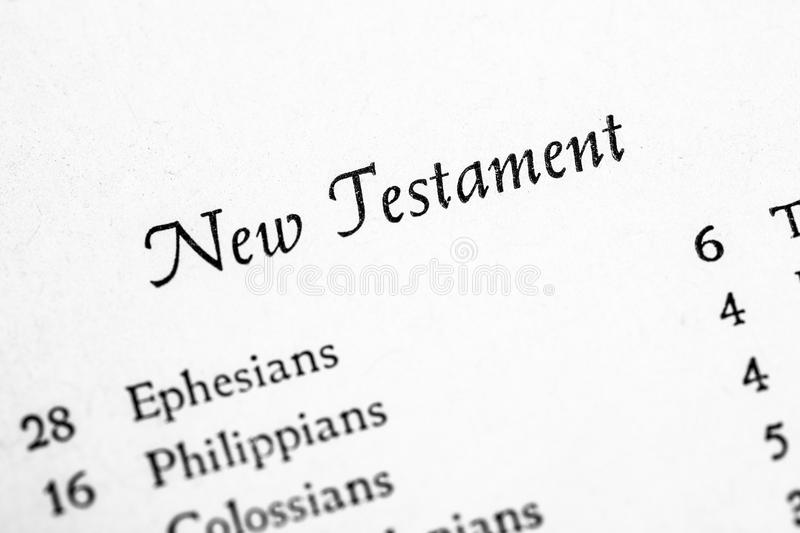 Holy Bible New Testament royalty free stock photography