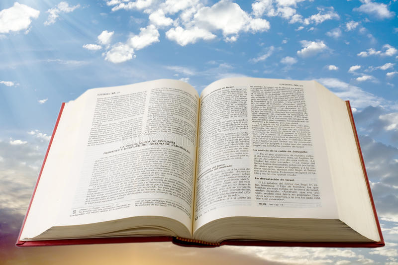 Holy Bible in spanish royalty free stock photo