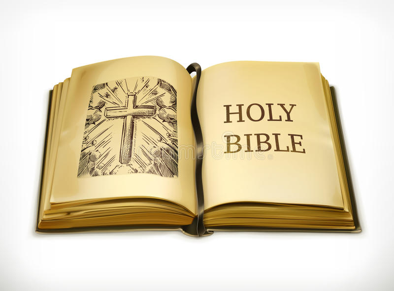 Holy Bible vector illustration stock illustration