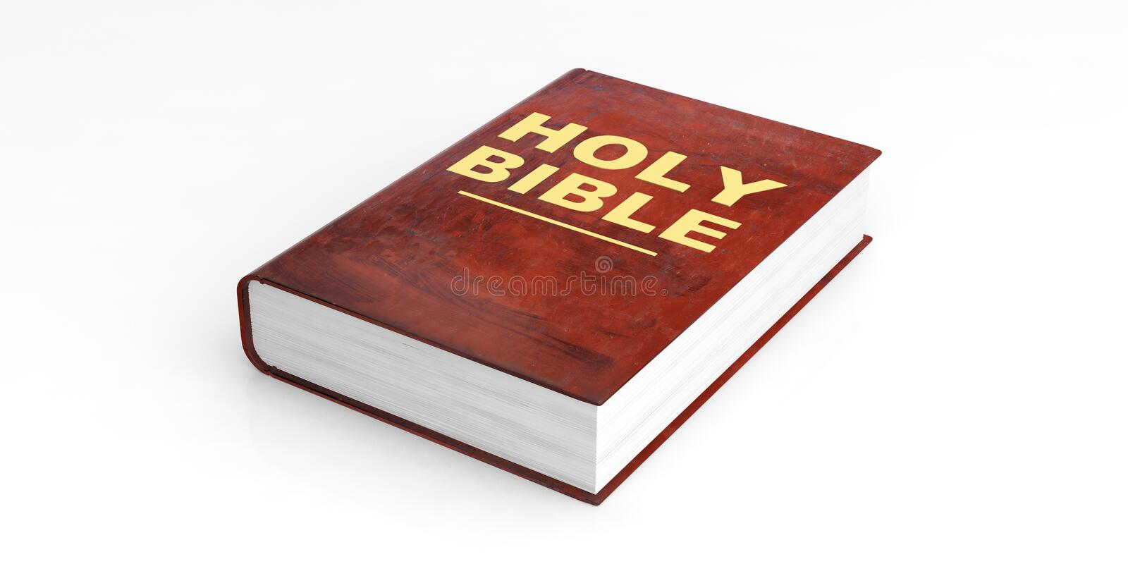 Holy Bible on white background. 3d illustration royalty free illustration