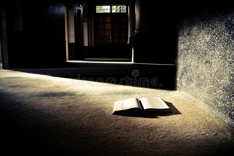 The holy book. Shined by sunlight stock photography