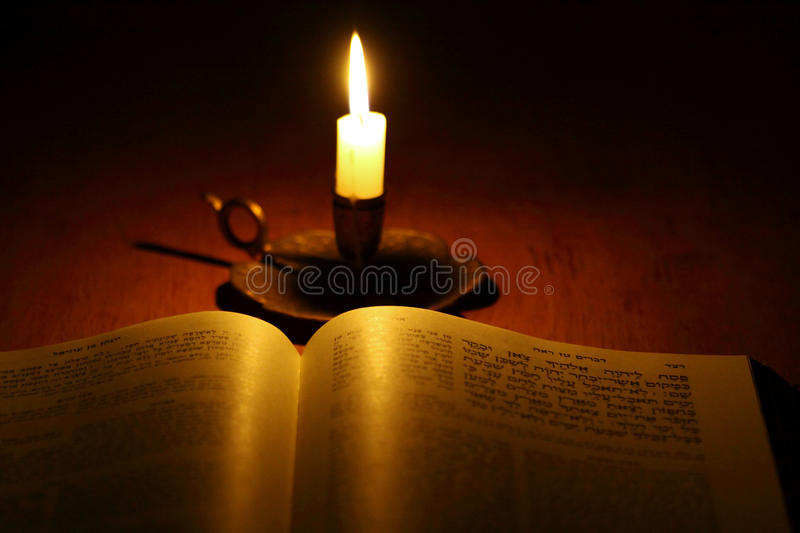 Holy book. Close up of a Jewish bible royalty free stock image