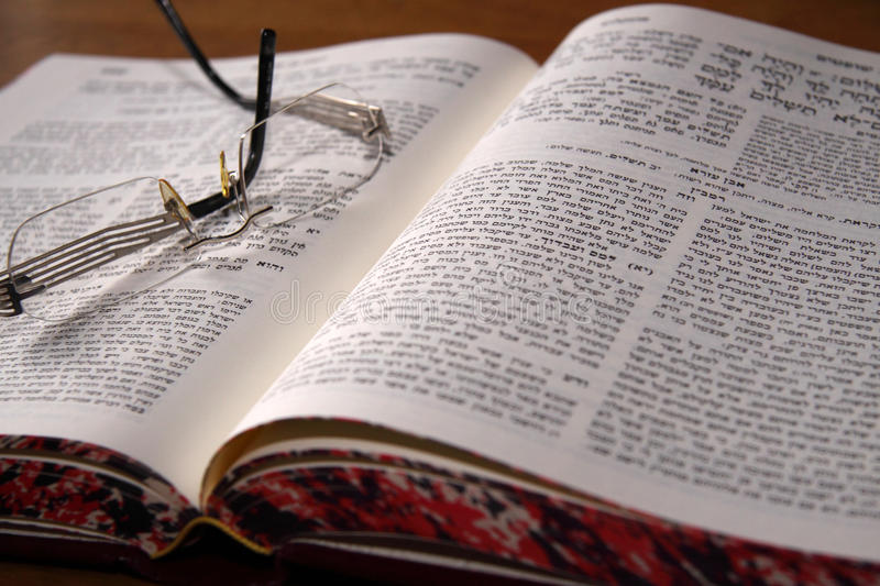 Holy book. Close up of a Jewish bible royalty free stock photography