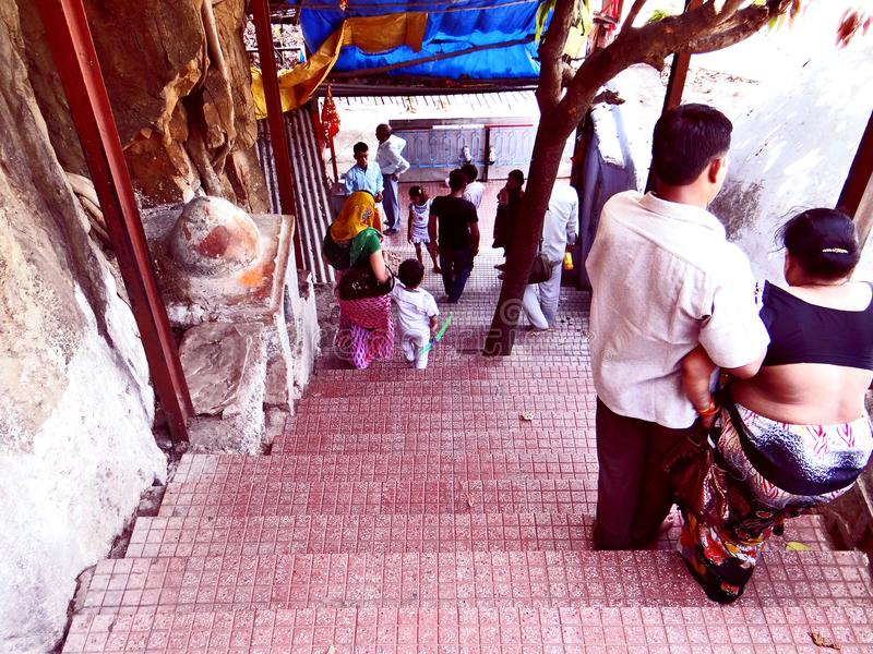 Holy cave in Anusuiya shrine and ashram, Chitrakoot. Holy cave in Anusuiya shrine and ashram, a holy pilgrimage of the Hindu devotee, in Chitrakoot. As per stock photos