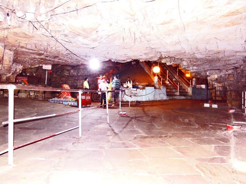 Holy cave in Anusuiya shrine and ashram, Chitrakoot. Holy cave in Anusuiya shrine and ashram, a holy pilgrimage of the Hindu devotee, in Chitrakoot. As per royalty free stock image
