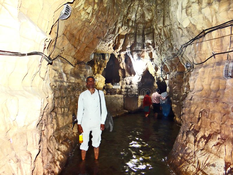 Holy cave in Anusuiya shrine and ashram, Chitrakoot. Holy cave in Anusuiya shrine and ashram, a holy pilgrimage of the Hindu devotee, in Chitrakoot. As per stock photography