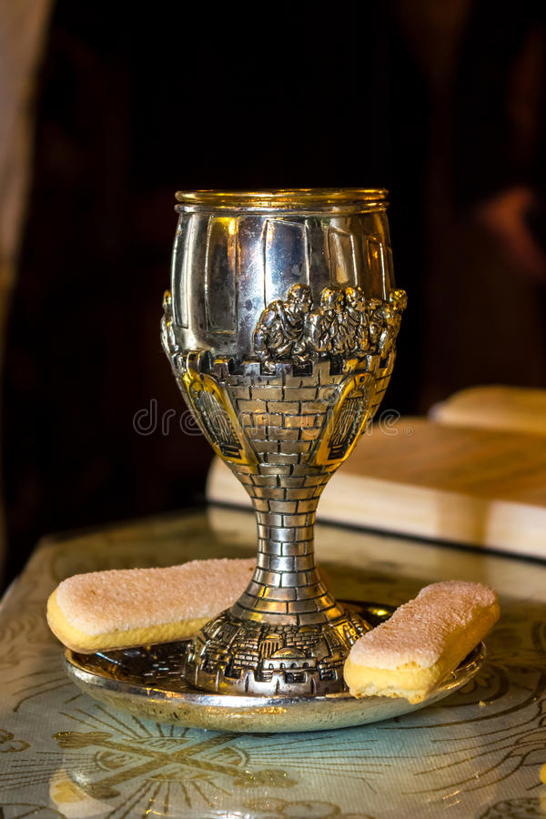 Holy chalice royalty free stock photos
