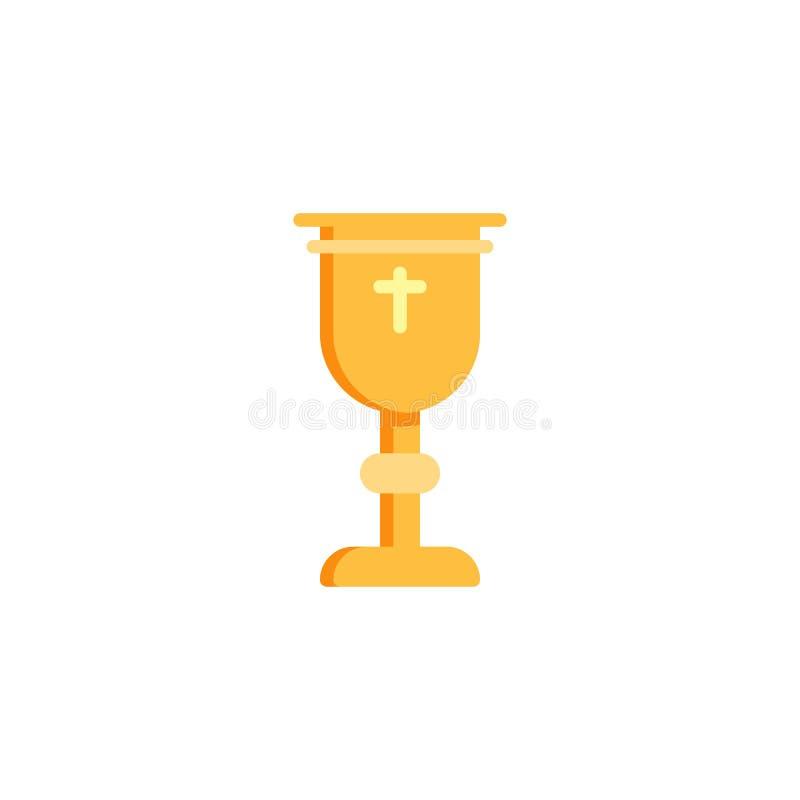 Holy chalice flat icon stock illustration
