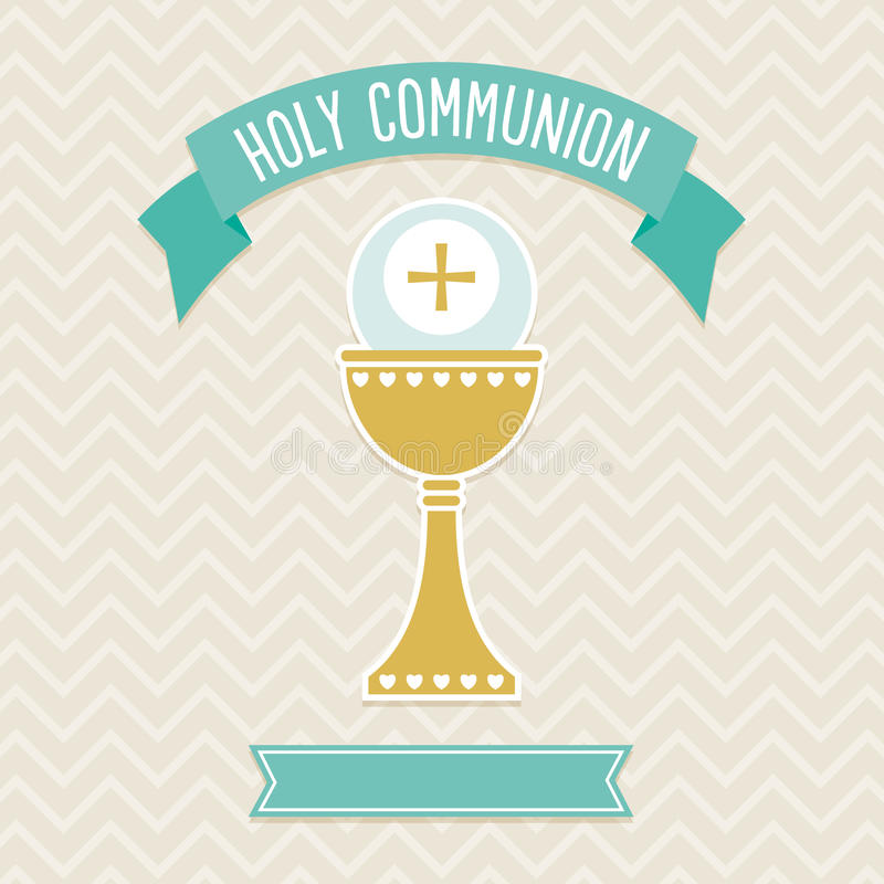 Holy Communion card template royalty free illustration