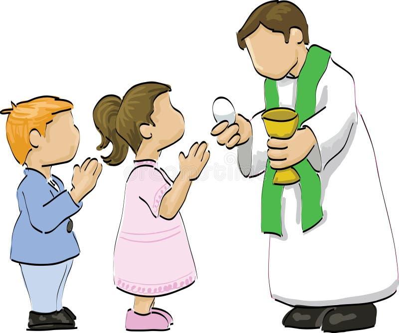 Holy communion royalty free illustration
