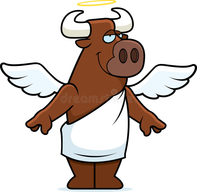 Holy Cow Angel royalty free illustration