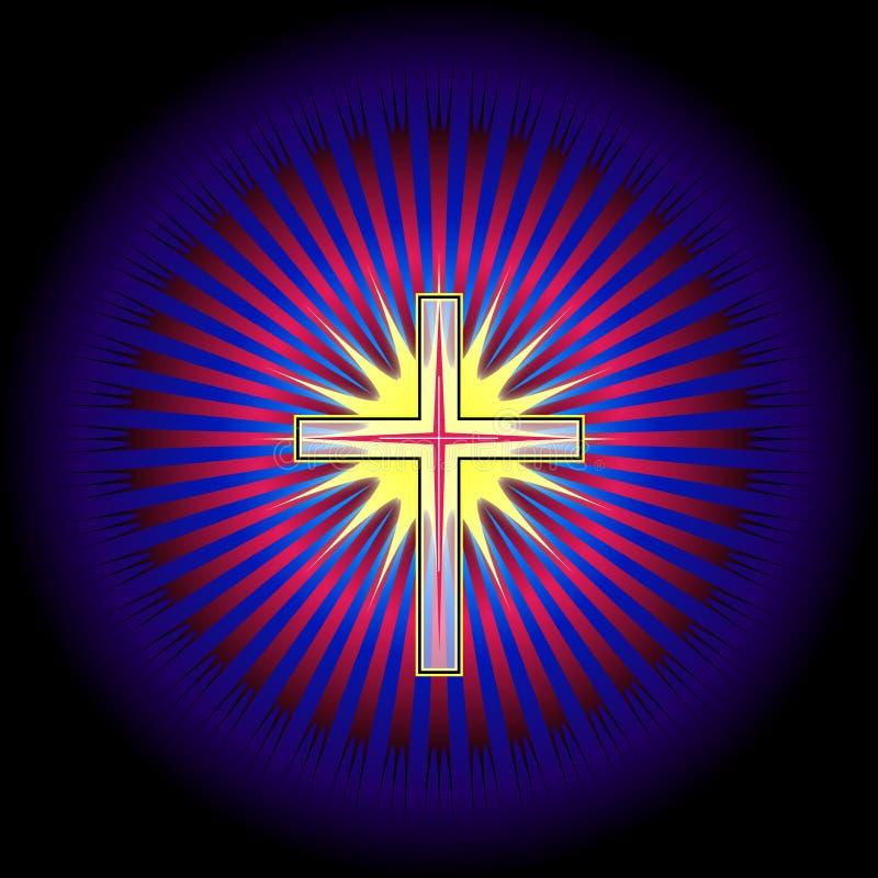 Holy cross royalty free illustration