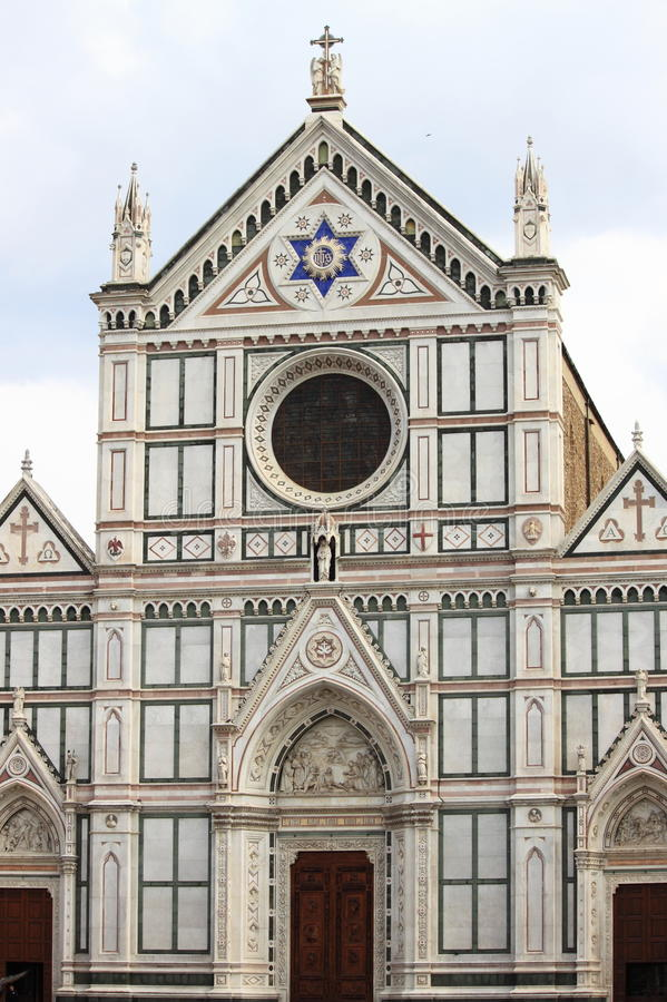 Holy Cross Basilica in Florence royalty free stock image