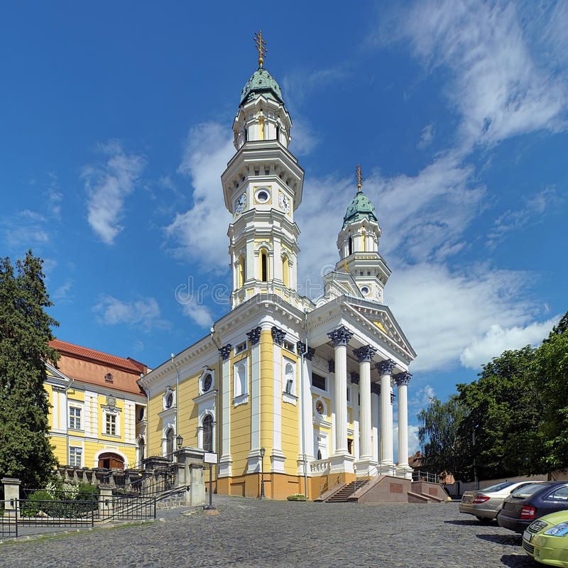 Download Holy Cross Cathedral In Uzhhorod, Ukraine Stock Photo - Image of architectural, carpathian: 39500542