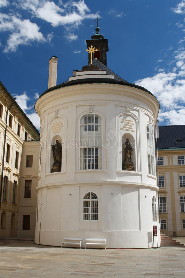Holy Cross chapel in Prague Castle. Czech Republic royalty free stock photography