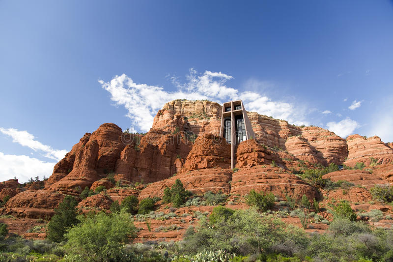 Holy Cross Chapel of Sedona royalty free stock photography