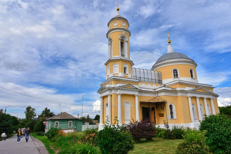Holy Cross Exaltation Church in the city of Kolomna on the Cathedral Square of the Kolomna Kremlin royalty free stock photos