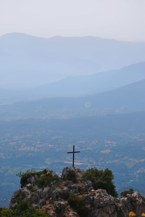 Download Holy cross and mountains stock image. Image of mountainous - 10921919