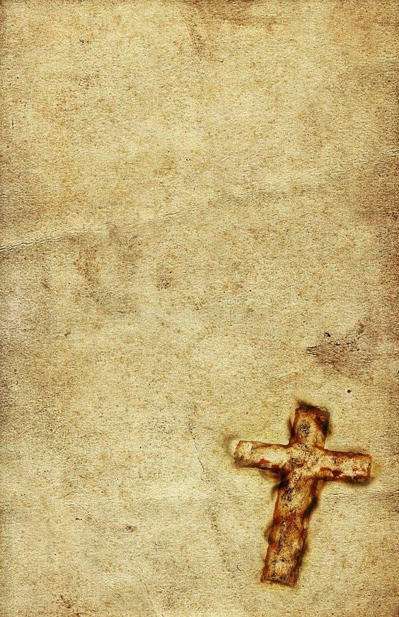 Holy Cross on paper stock illustration