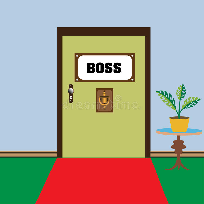 Download The holy door of the boss stock vector. Image of carpet - 21133800