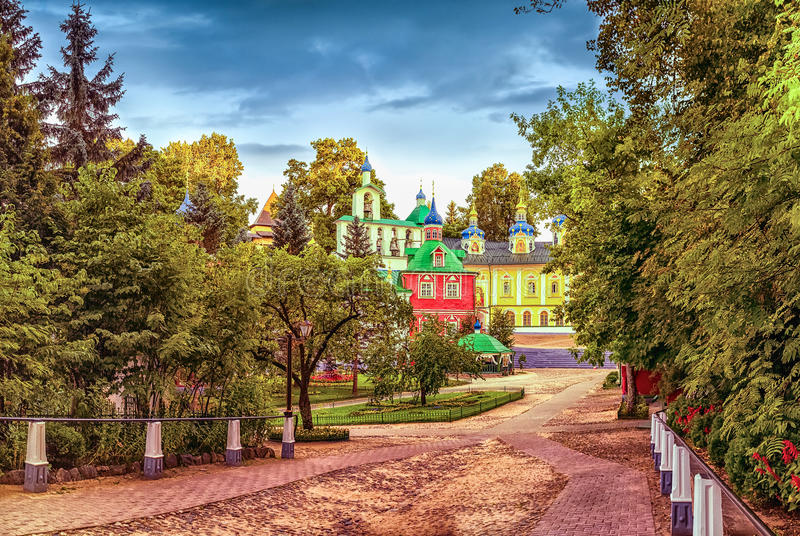 The Holy Dormition Pskov-Caves monastery royalty free stock images